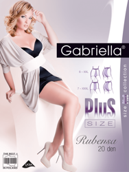Rajstopy Rubensa Plus Size 20 den, nero